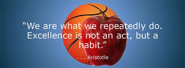 Aristotle habit quote