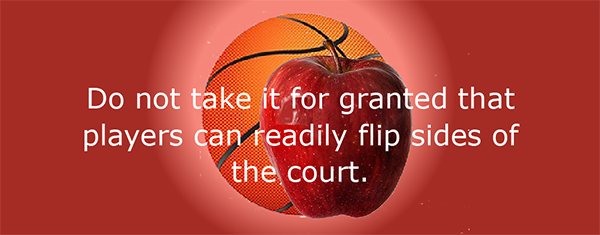 Flipping sides of the court