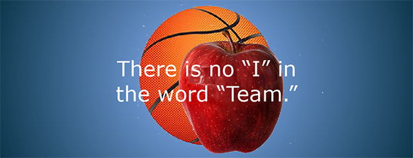 "No ""I"" in word team"